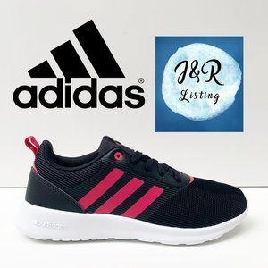 Adidas QT RACER 2.0 Black Running Shoes Size 8
